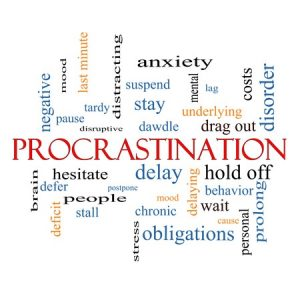 Procrastination Words Collage